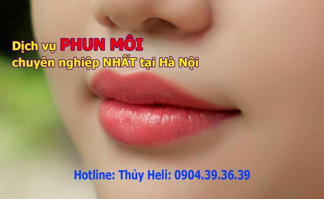 Dịch vụ phun môi chuyên nghiệp nhất tại Hà Nội